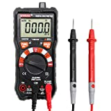 Digital Multimeter UYIGAO Auto-Ranging Digital Multimeters Electronic Measuring Instrument AC Voltage Detector Portable Amp Ohm Volt Test Meter Multi Tester Diode and Continuity Test Scanners Home Use (Color: Black, Tamaño: UA9233D)