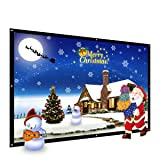 Projector Screen 100 Inch, THUSTAR Outdoor Indoor DIY Movie Screen 16: 9 for Camping / Indoor Home Cinema Theater / Education / Office Presentation (Tamaño: 16:9/ 100Inch)