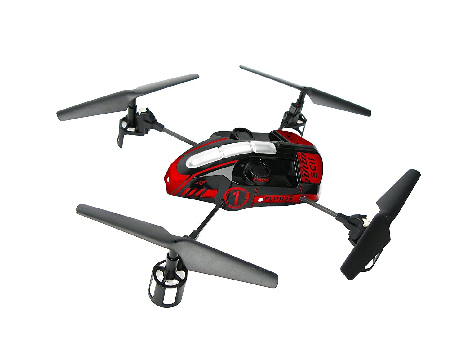 EZ Fly RC 101R Flipside Quadcopter, Red