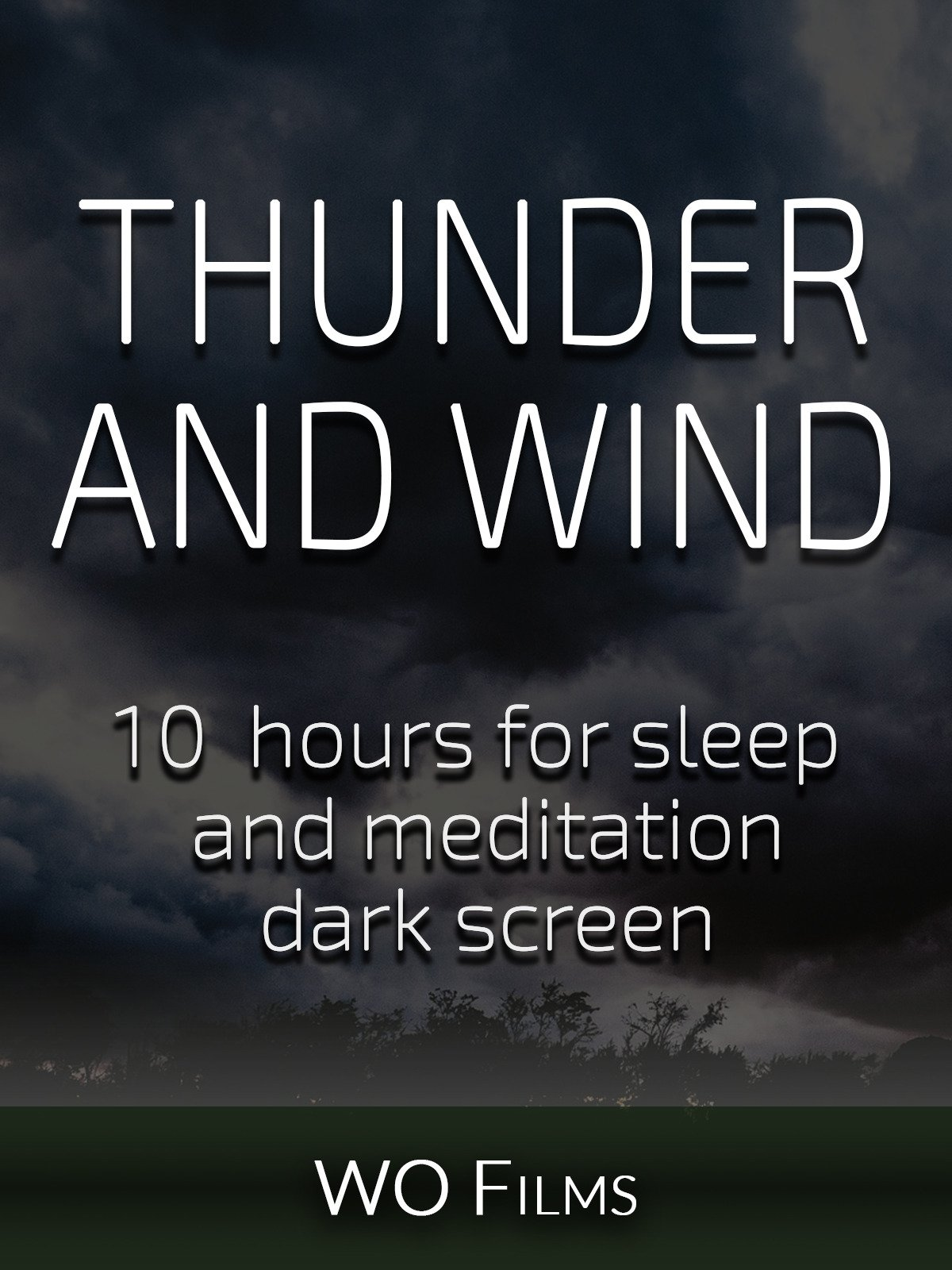 Thunder and wind, 10 hours for Sleep and Meditation, dark screen