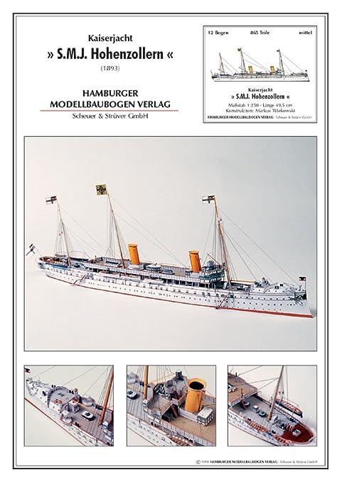 Modèle en carton de yacht impérial Hohenzollern