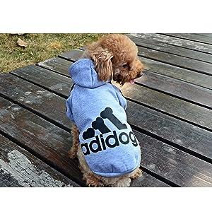 Moolecole Pet Sports Apparel Cat & Dog Cold Weather Coats Dog Hoodies Pet Sweaters (XL, Grey) (Color: Grey, Tamaño: XL(Chest18.1,8.5-13 lb))