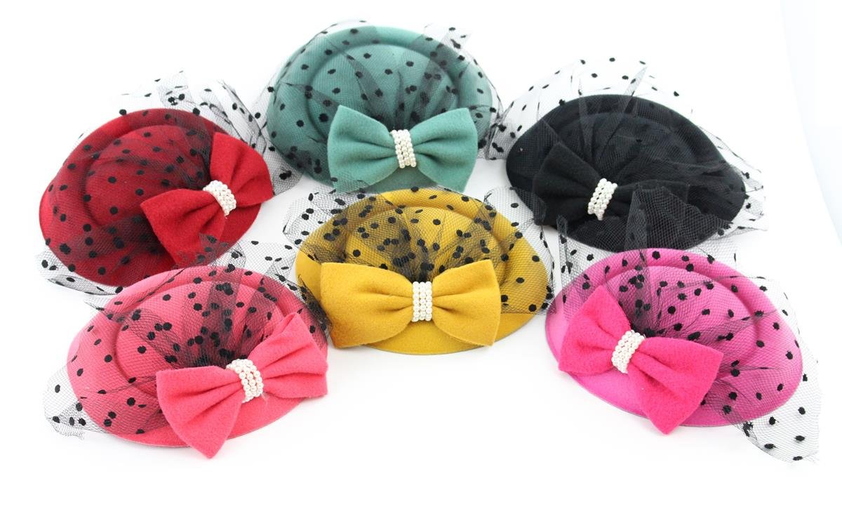 The Kate Pillbox Fascinator Hat with Hair Clip for Women 6