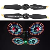 Inverlee 2Pairs Low Noise Quick Release Folding LED Light Flash Propellers for DJI Mavic Pro Platinum (1 Pair) (Color: 1 Pair)