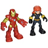 Playskool Heroes Super Hero Adventures Iron Man & Marvels Black Widow Toy