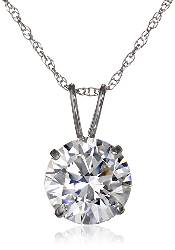 10k-Gold-and-Solitaire-Pendant-Necklace-Made-with-Swarovski-Zirconia-2-cttw-18-