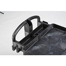 Rubbermaid Commercial FG452088BLA Heavy-Duty Service Cart with Lipped Shelves, Medium, Black