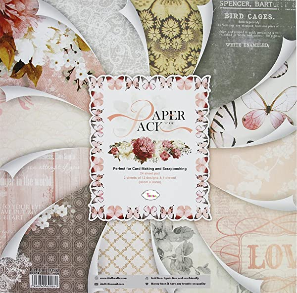 IDULL Cardstock Paper 12x12 for Scrapbooking, Card Making and Handwork (Color: Light Pink & Grey, Tamaño: 12-x-12-Inch)