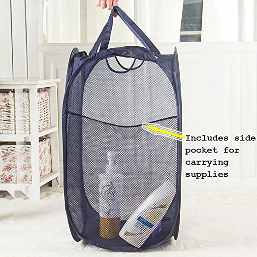 Pop-Up Mesh Laundry Basket