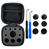 eXtremeRate 4 in 1 Metal Magnetic Thumbsticks Analogue Joysticks T8H Cross Screwdrivers with Storage Case for Xbox One S Elite PS4 Slim Pro Controller Black (Color: 4 in 1 Black)