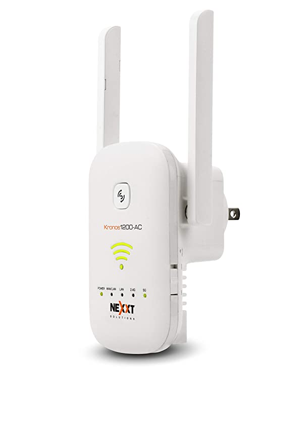 Nexxt Solutions Wireless WiFi Range Extender Signal Repeater [Kronos1200-AC] | 1200Mbps Speeds and 5 Year Warranty [White]