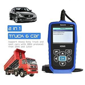 NEXAS Heavy Duty Truck Scanner NL102 OBD/EOBD+HDOBD Diagnostic