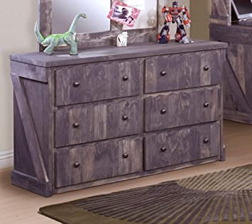 Chelsea Home 6 Drawer Dresser in Driftwood