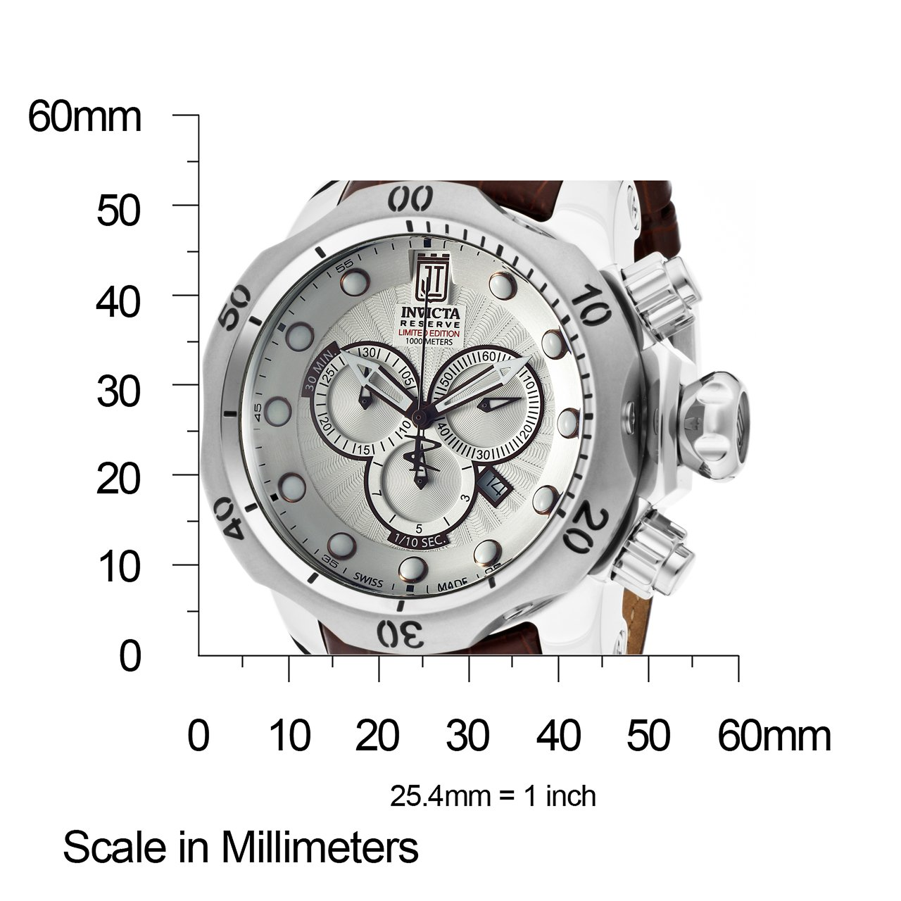 Invicta 12960 Jason Taylor Reserve Swiss Made Chronograph Leather