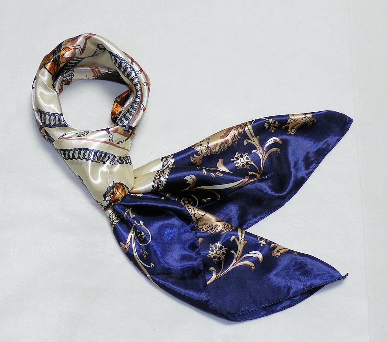 華麗な高級シルク調スカーフ 90角正方形大判レディース スカーフ 贈り物 ギフト人気な花柄 スカーフ : 服&ファッション小物通販 | Amazon.co.jp