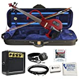 Bunnel EDGE Clearance Electric Violin (Rockstar Red) (Color: Rockstar Red)