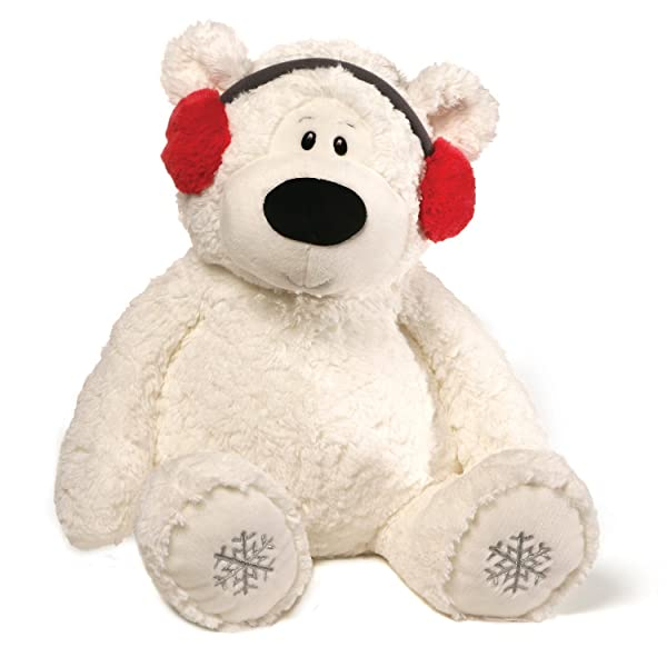 GUND Blizzard Teddy Bear Holiday Stuffed Animal Plush, White, 24 (Tamaño: 24)