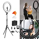 Camera Photo Video Lighting Kit: RL-18? 55W 240 LED Ring Light 5500K Photography Dimmable Ring Lamp with Mirror Tripod for Smartphone, YouTube, Vine Self-Portrait Video Shooting (Tamaño: 18inch)