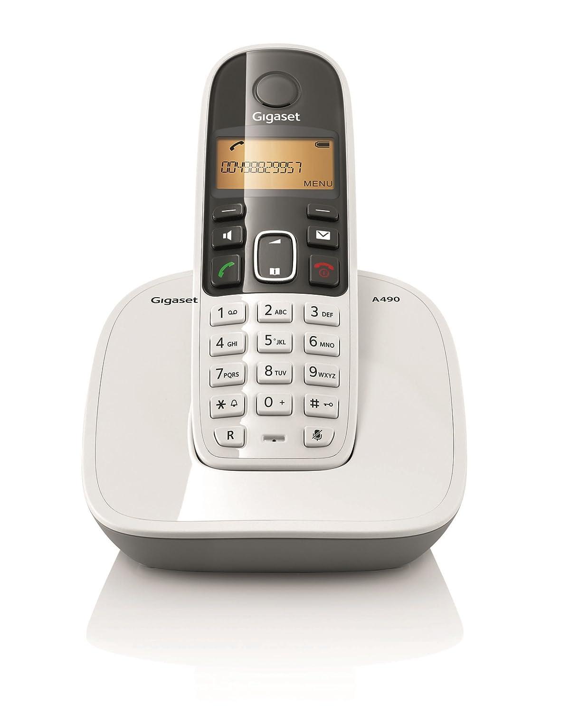 gigaset a490 cordless landline phone white 1 yr onstie. Black Bedroom Furniture Sets. Home Design Ideas