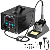 Happybuy 948 2 in 1 Desoldering Station Soldering Station 110V Hot Air Rework Station 60W 80W Soldering Iron Station with Accessories