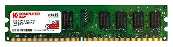 Komputerbay 1GB DDR2 PC2 5300 667Mhz 240 Pin DIMM 1 GB (Tamaño: 1 Gb)