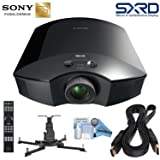 Sony VPL-HW45ES Full HD 3D SXRD Home Theater/Gaming Projector Bundle; Includes Ceiling Mount (+20º/-20º Tilt Capability) + HDMI Cable + eDigitalUSA Maintenance Kit