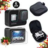 Mojosketch Screen Protector for GoPro Hero 8 + Small Hard Shell Carrying Case Accessory Bundles, [2 Packs] Lens & Screen & Display Tempered Glass Screen Protector Film + EVA Travel Case Storage Bag (Color: Goprokits_22)