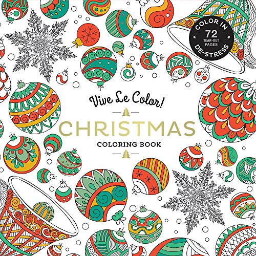 Vive Le Color Christmas Adult Coloring Book