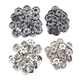 40 Sets Metal Snap Fastener Press Stud Sewing Button For Dress Clothing Bags (21mm) (Tamaño: 21mm)