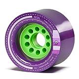 Orangatang Kegel 80 mm 83a Downhill Longboard Skateboard Cruising Wheels w/Loaded Jehu V2 bearings (Purple, Set of 4) (Color: Purple, 83a, Tamaño: w/ Loaded Jehu V2 bearings)