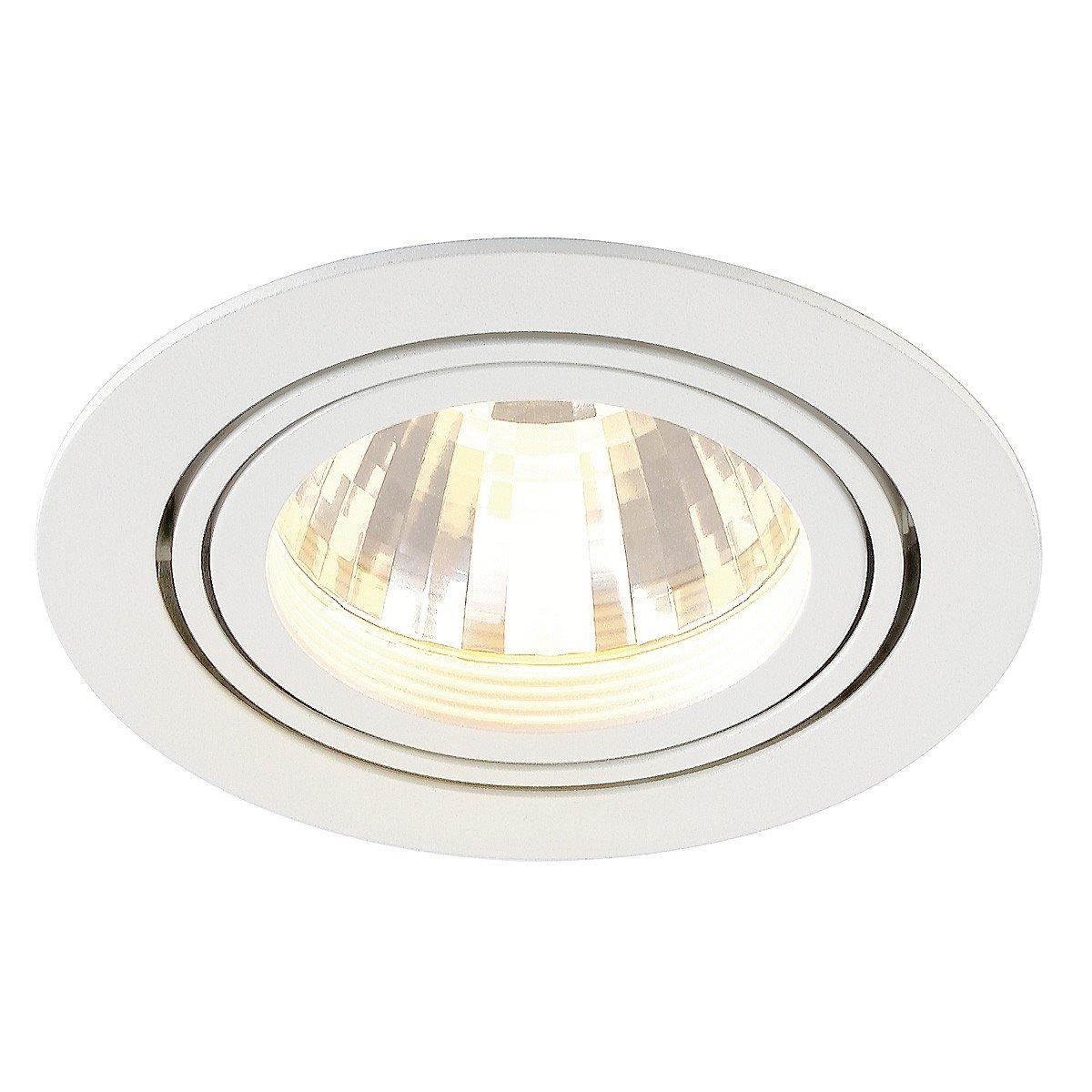 SLV New Tria LED Disk Downlight, Rund, 2700 K, 60 Grad, weiß 113591
