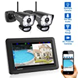 CasaCam VS1002 Wireless Security Camera System with AC Powered HD Spotlight Cameras and 7