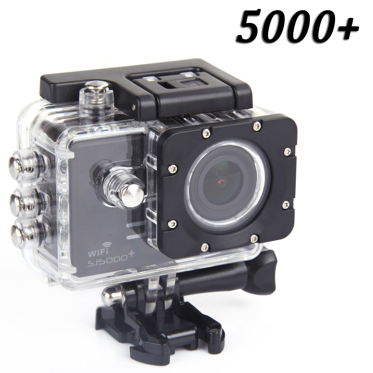Original Sj5000 Plus Wifi Sports Action Camera Sjcam Sj5000+ Water Resistant Helmet Head Video Camcorder (Black)
