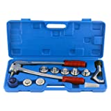 IBOSAD HVAC SWAGING Tool kit for Copper Tubing Expanding 3/8 to 1-1/8 inches,Professional Aluminum Copper Tube Expander Tool Full Set with Tube Cutter & Deburring Tool (Tamaño: 3/8 inch-1 1/8 inch)