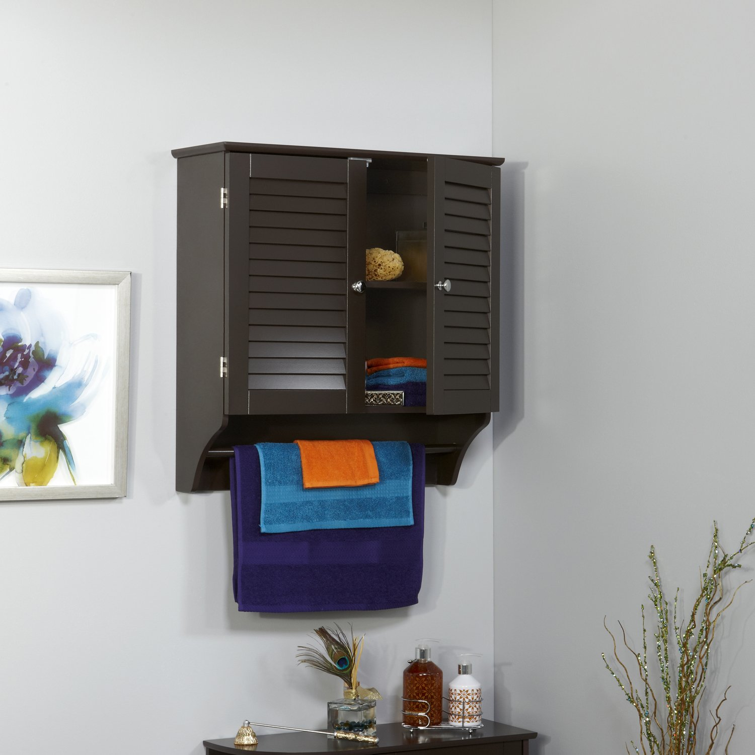wall mounted wooden cabinet