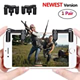 PUBG Mobile Game Controller Sensitive Shoot and Aim Keys L1R1 Trigger Buttons for PUBG/Knives Out/Rules of Survival, Support Both Android and IOS System (1 Pair) (Color: 1 Pair)