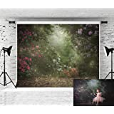 Kate 8x8ft Portrait Backdrop Floral Photo Backdrops for Photographers Jungle Backdrops Photography (Color: 111772, Tamaño: 8x8ft)