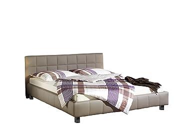 Maintal Betten 238670-4130 Polsterbett Java, 140 x 200 cm Kunstleder, schlamm