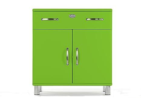 Tenzo 5127-021 Malibu, Designer Kommode, 92 x 86 x 41 cm, MDF lackiert, grun