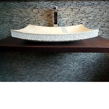 Spa Ambiente, Marmor Naturstein, Aufsatz Waschbecken Marmor ZEN, Asia Style  - us237