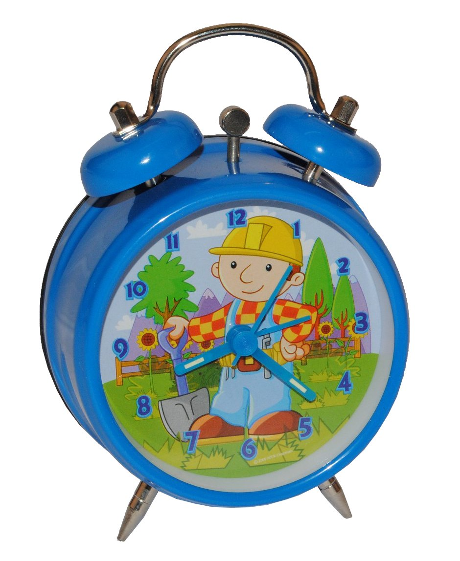 Kinderwecker Bob der Baumeister – Kinder blau Wecker Bauarbeiter Metallwecker Metall Jungen Alarm Analog günstig online kaufen