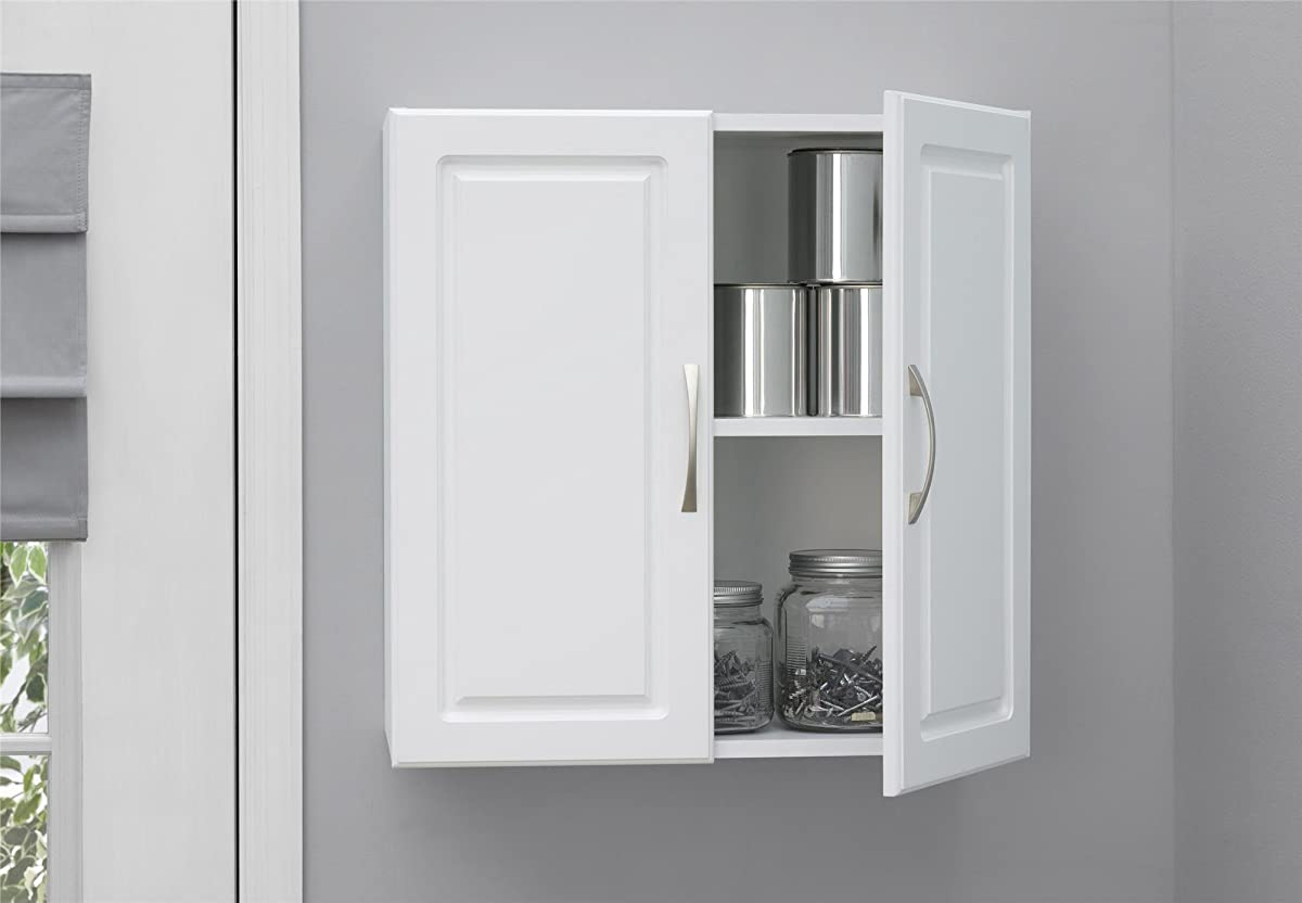 "SystemBuild Kendall 24"" Wall Cabinet, White Stipple"