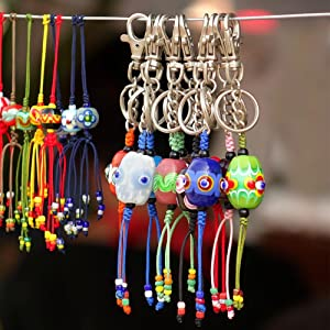 selizo 100Pcs Key Chain Rings Bulk with Tassel for Tassel Keychain