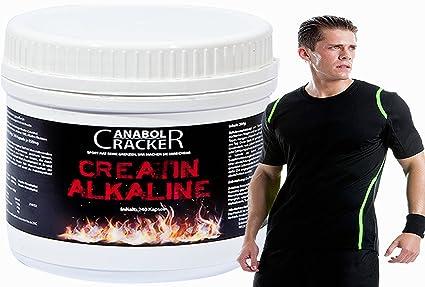 240 Kapseln Creatin Alkaline / Kre-Alkalyn 1500mg + Sportstyle Muskelshirt, Anabol Cracker