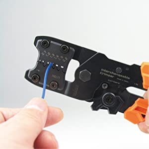 Engineer PAD-11 Precision Open Barrel Crimping Tool With Interchangeable Die System