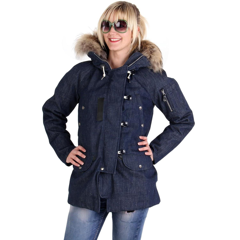 MUSEUM Damen Winter Daunenjacke Jeans Blau MD19453 günstig online kaufen