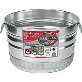 Behrens 32S 1-Bushel Basket Round Galvanized Steel Tub