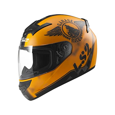 LS2 Helmets - Casque LS2 ROOKIE FAN Orange Mat FF352 - Couleurs multiples - 2XL