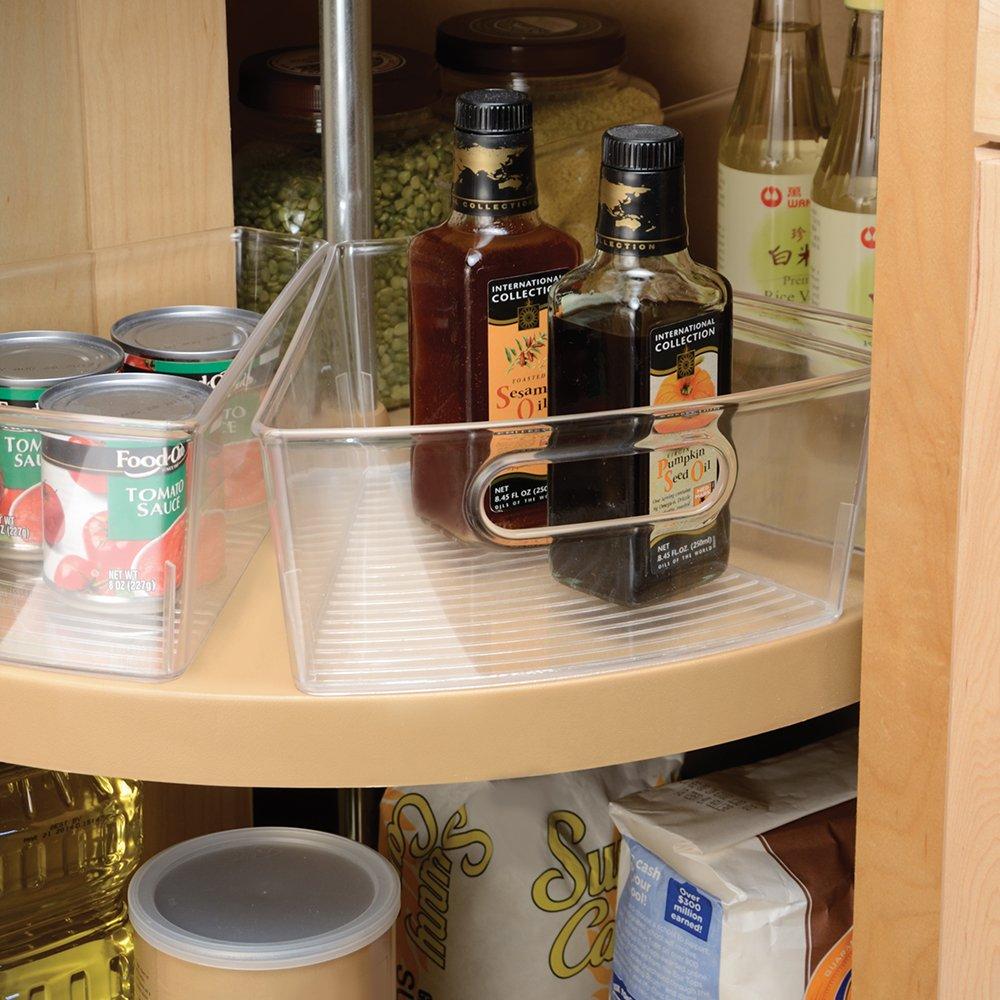 InterDesign Lazy Susan Cabinet Binz, Clear , 1/8 Wedge