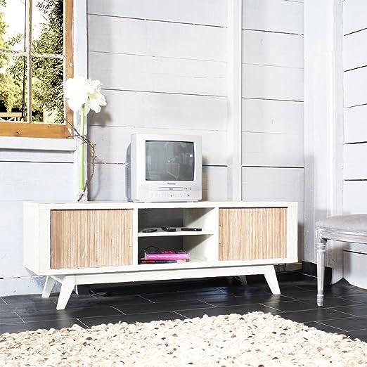 Waschtisch TV MDF 2Schiebeturen, 2Nischen | DN28